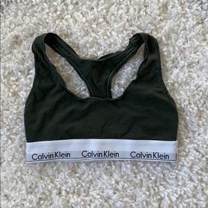 Calvin Klein hunter sports bra size xs